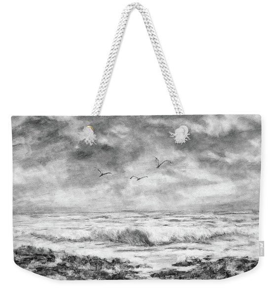 Sky Rocks And Water Weekender Tote Bag