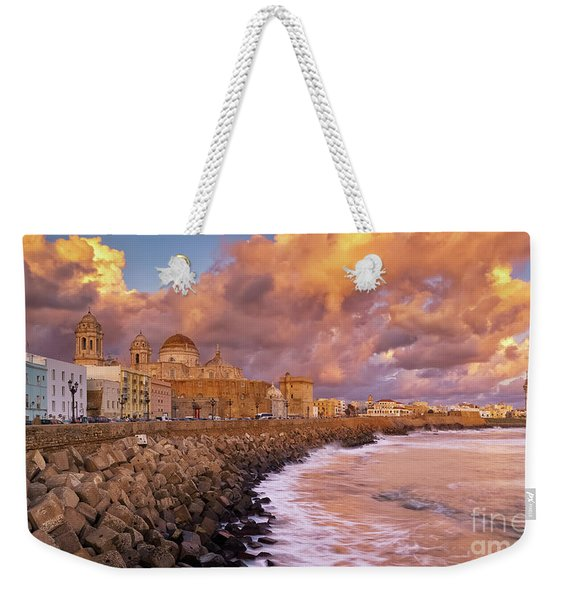 Skyline From Campo Del Sur Cadiz Spain Weekender Tote Bag