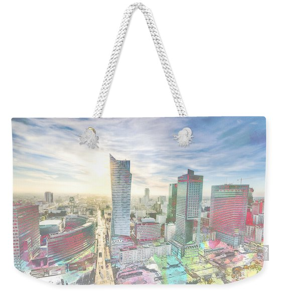 Skyline Of Warsaw Poland Weekender Tote Bag