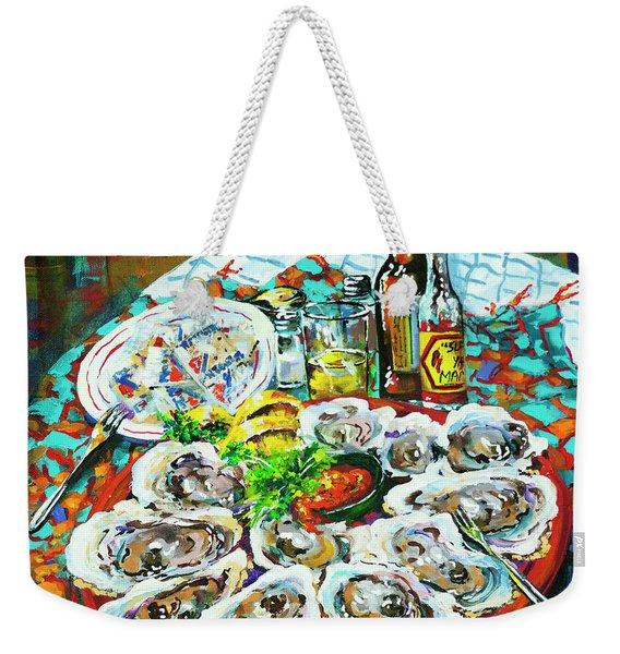 Slap Dem Oysters  Weekender Tote Bag