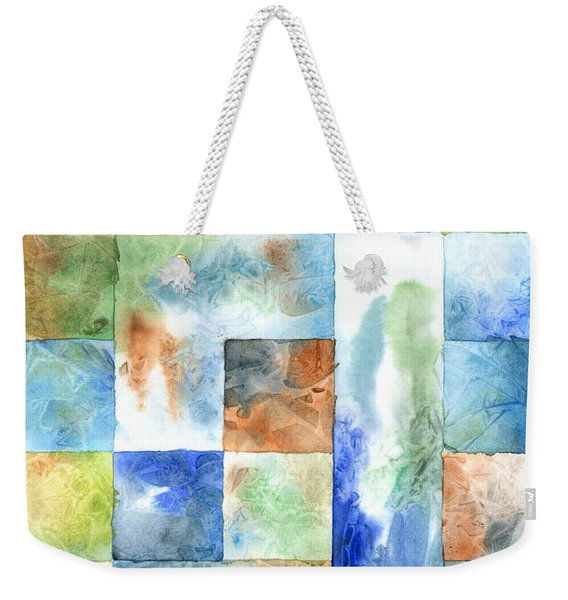 Slated Watercolor Weekender Tote Bag