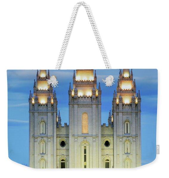 Slc Temple Blue Weekender Tote Bag