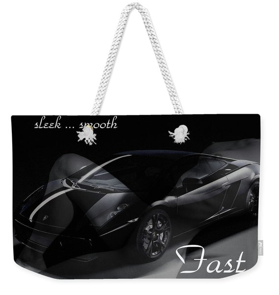 Sleek, Smooth, Fast Weekender Tote Bag