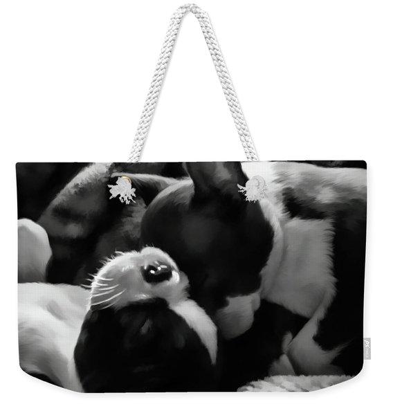 Sleeping Beauties - Boston Terriers Weekender Tote Bag