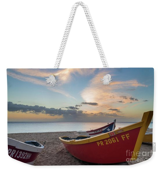Sleeping Boats On The Beach Weekender Tote Bag