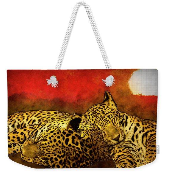 Sleeping Cats Weekender Tote Bag