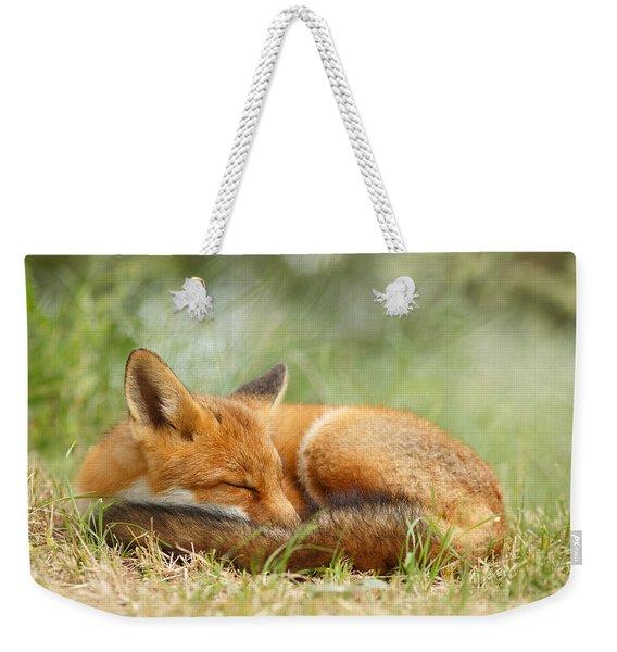Sleeping Cutie - Red Fox In The Grass Weekender Tote Bag