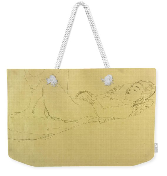 Sleeping Girl Weekender Tote Bag