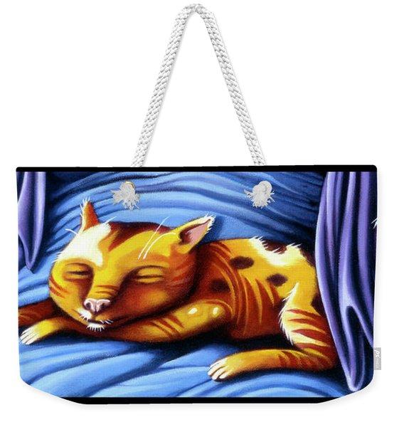 Sleeping Kitty Weekender Tote Bag