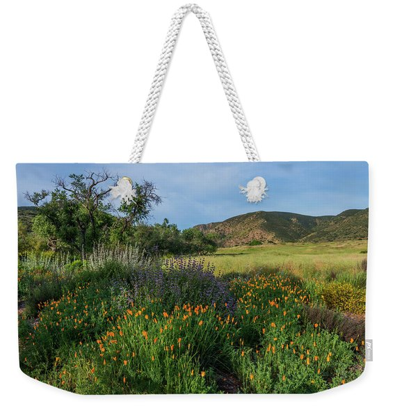 Sleeping Poppies, Mission Trails Weekender Tote Bag