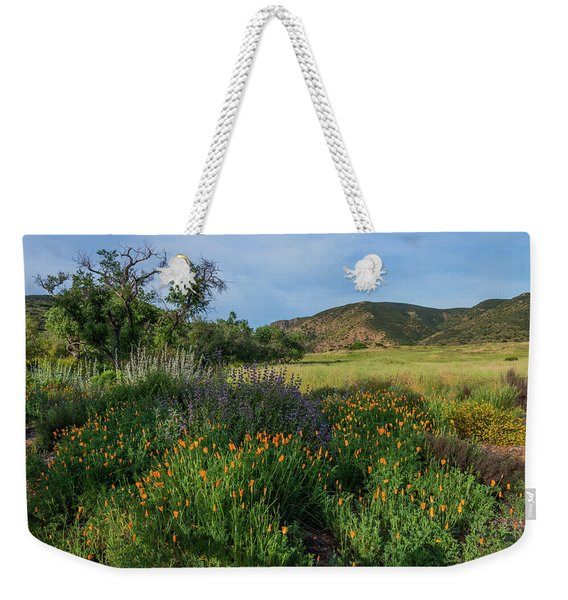 Sleeping Poppies, Mission Trails Weekender Tote Bag