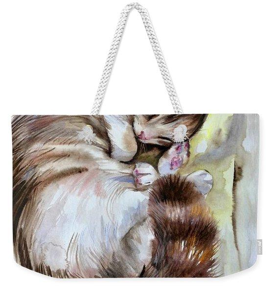 Sleepy Cat 2 Weekender Tote Bag