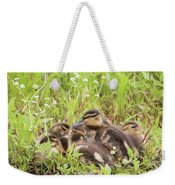 Sleepy Ducklings Weekender Tote Bag