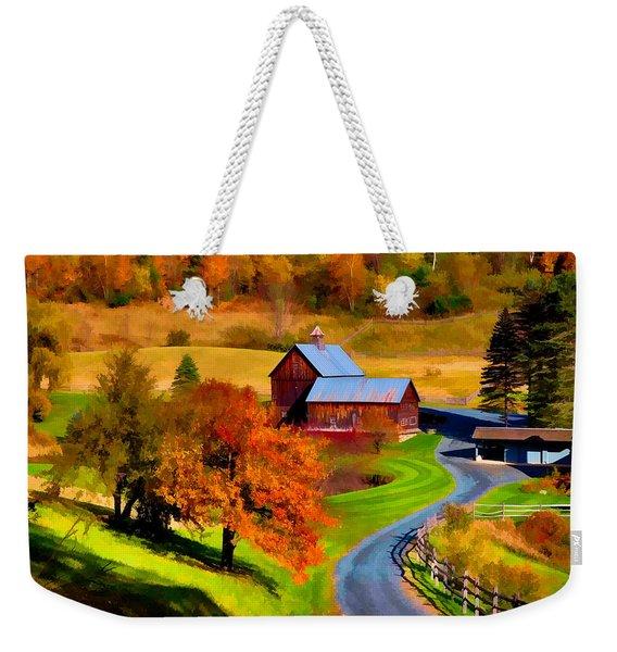 Digital Painting Of Sleepy Hollow Farm Weekender Tote Bag