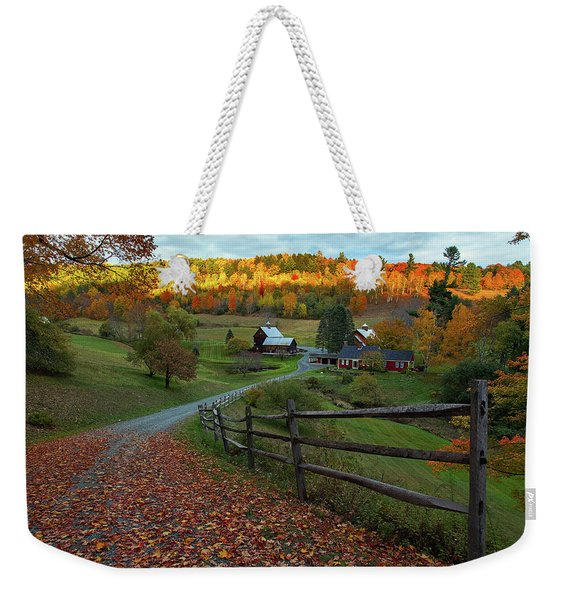 Sleepy Hollow Farm- Pomfret Vt Weekender Tote Bag