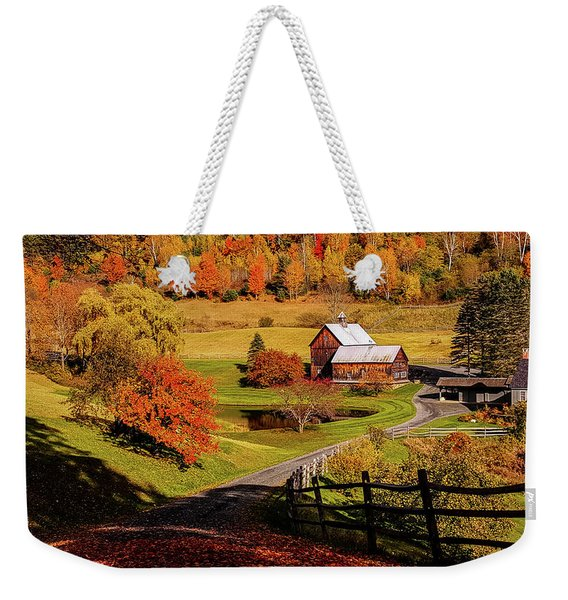 Weekender Tote Bag featuring the photograph Sleepy Hollow - Pomfret Vermont-2 by Jeff Folger