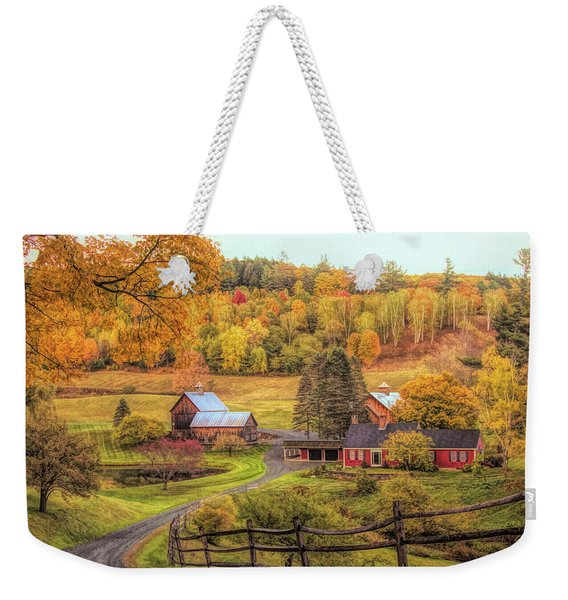 Weekender Tote Bag featuring the photograph Sleepy Hollow - Pomfret Vermont In Autumn by Jeff Folger