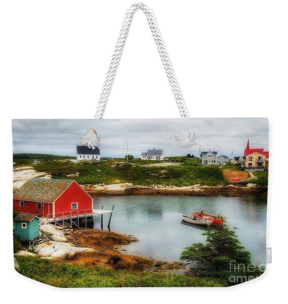Sleepy Seascape Weekender Tote Bag