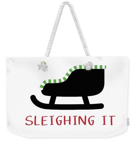 Sleighing It- Art By Linda Woods Weekender Tote Bag