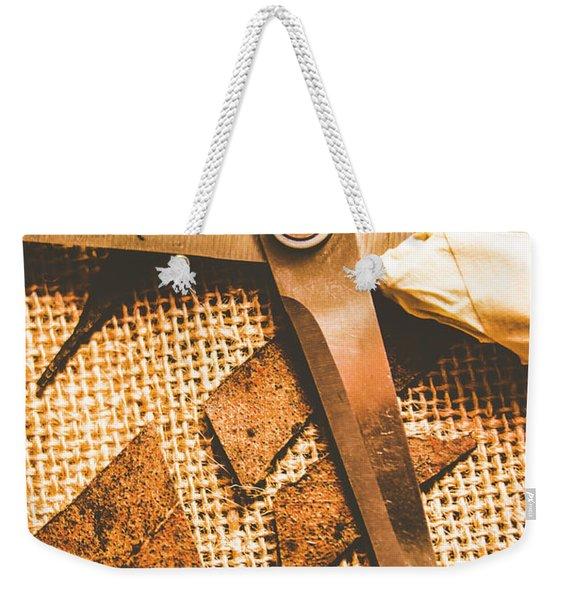 Slicing Of Segmented Leaves Weekender Tote Bag