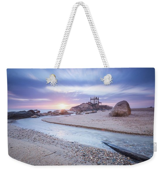 Sliding Into Time Weekender Tote Bag