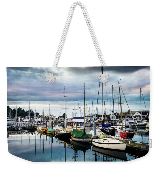 Slips At Point Hudson Marina Weekender Tote Bag