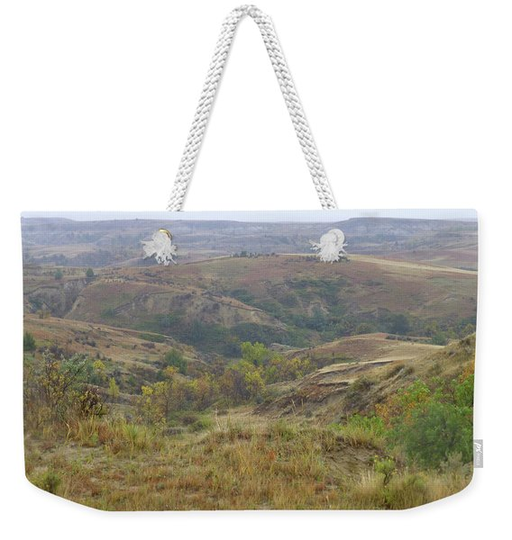 Weekender Tote Bag featuring the photograph Slope County In The Rain by Cris Fulton