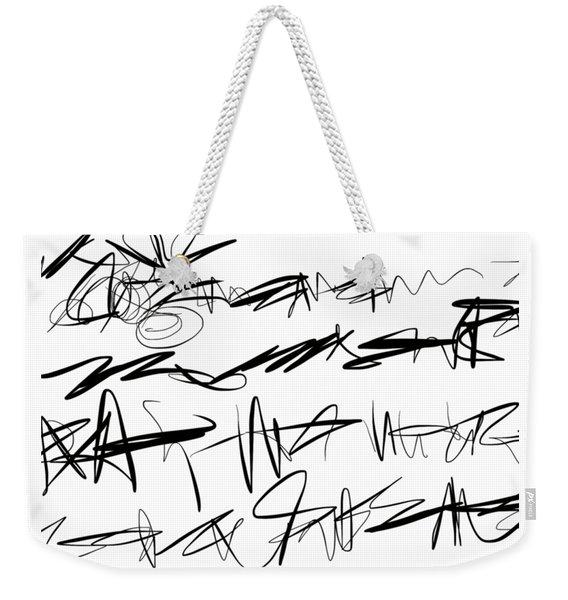 Sloppy Writing Weekender Tote Bag
