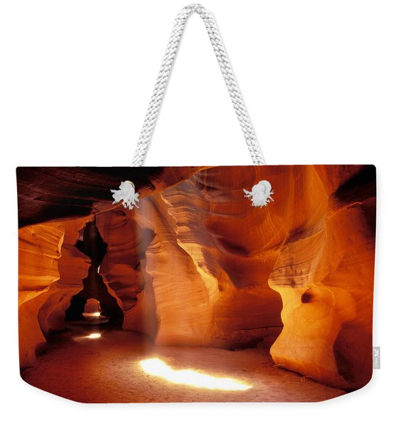 Slot Canyon Warm Light Weekender Tote Bag
