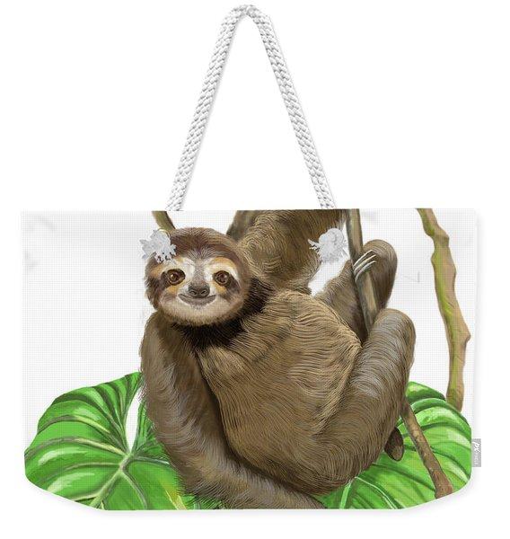 Hanging Three Toe Sloth  Weekender Tote Bag