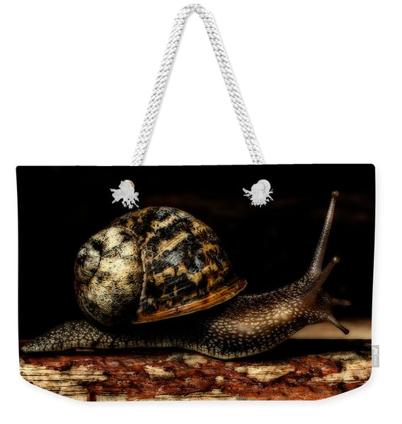 Weekender Tote Bag featuring the photograph Slow Mover by Nick Bywater