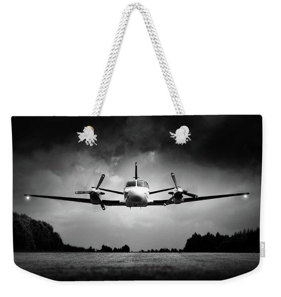 Small Airplane Low Flyby Weekender Tote Bag