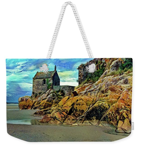 Small Chapel At The Mont Saint Michel Abbey Weekender Tote Bag