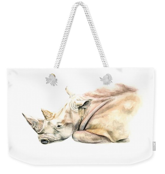Small Colour Rhino Weekender Tote Bag