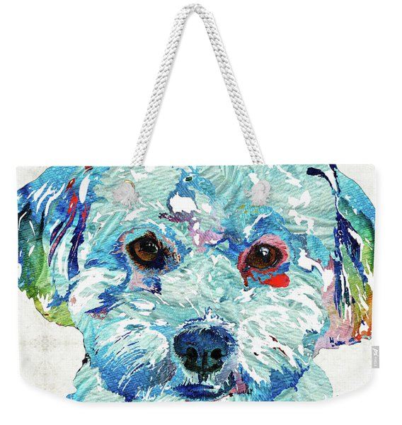 Small Dog Art - Soft Love - Sharon Cummings Weekender Tote Bag