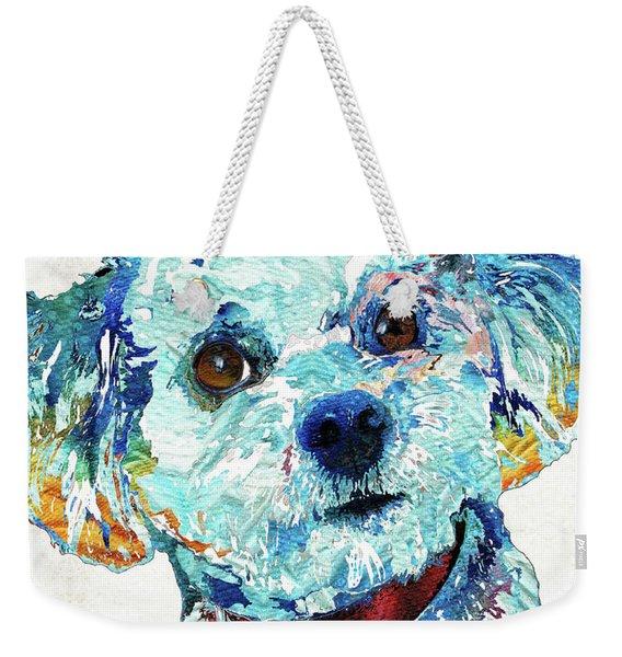 Small Dog Art - Who Me? - Sharon Cummings Weekender Tote Bag