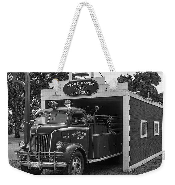 Small Fire House Weekender Tote Bag