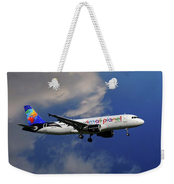 Small Planet Airbus A320-214 Weekender Tote Bag