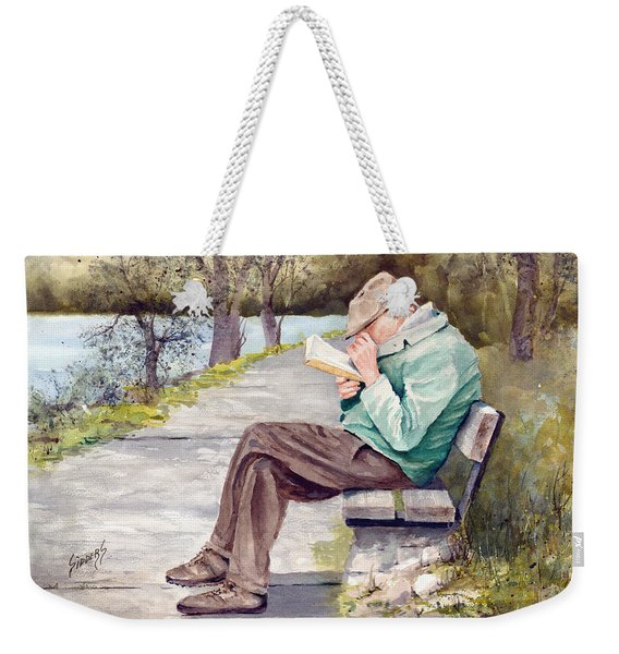 Small Print Weekender Tote Bag