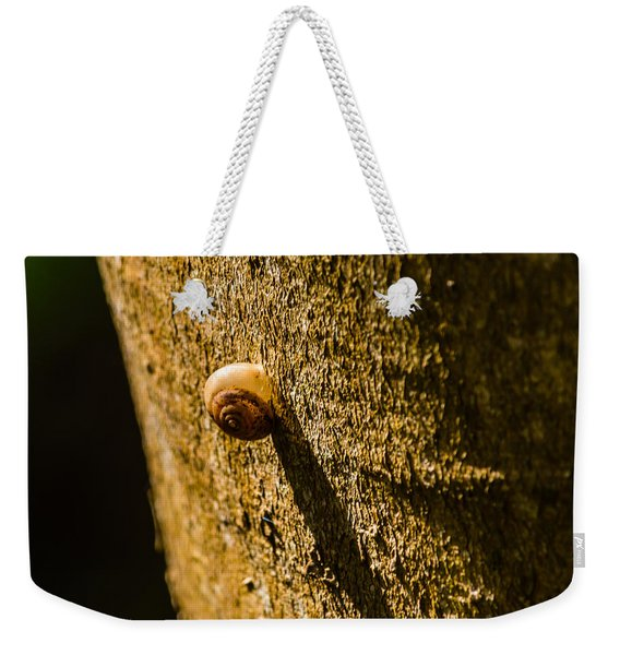 Small Snail On The Tree Weekender Tote Bag