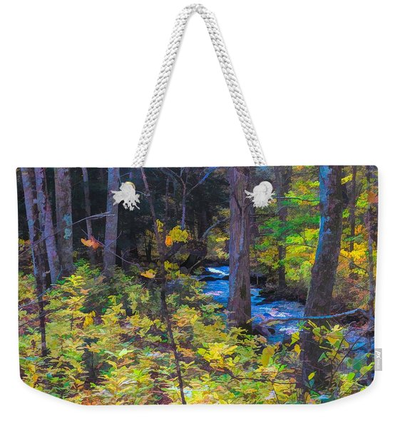 Small Stream Through Autumn Woods Weekender Tote Bag
