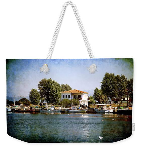 Small Town In Greece Weekender Tote Bag
