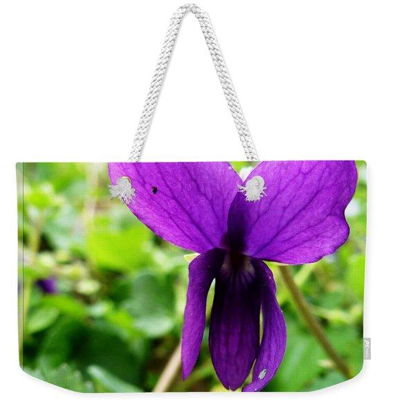 Small Violet Flower Weekender Tote Bag