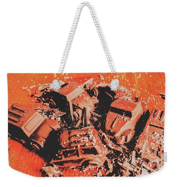 Smashem Crashem Cars Weekender Tote Bag