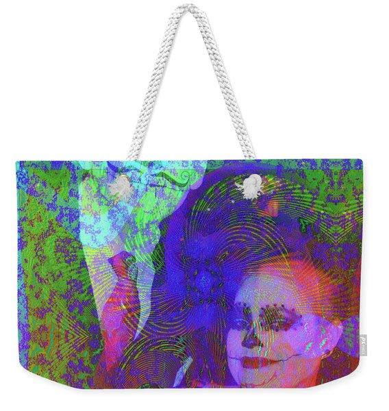 Weekender Tote Bag featuring the digital art Smiles by Visual Artist Frank Bonilla