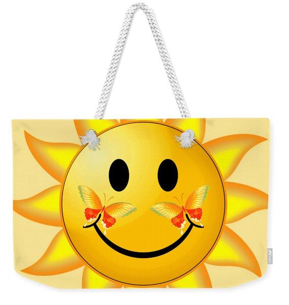 Smiley Face Sun Weekender Tote Bag