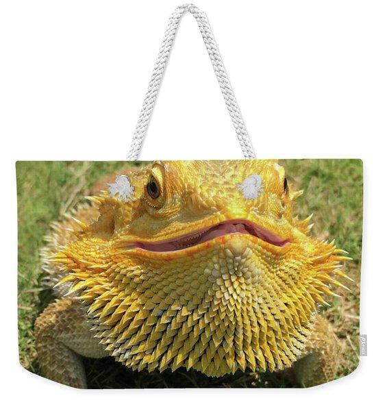 Smiling Bearded Dragon  Weekender Tote Bag