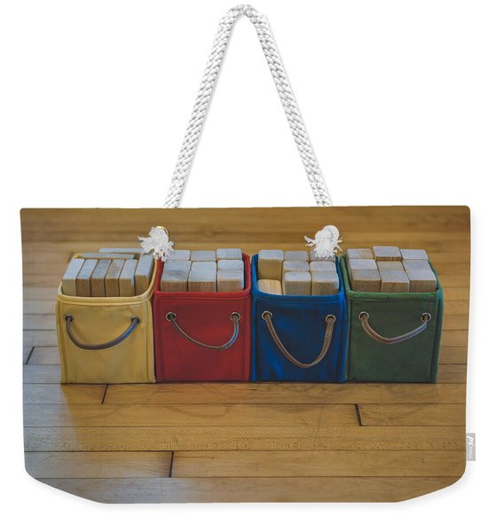 Smiling Block Bins Weekender Tote Bag