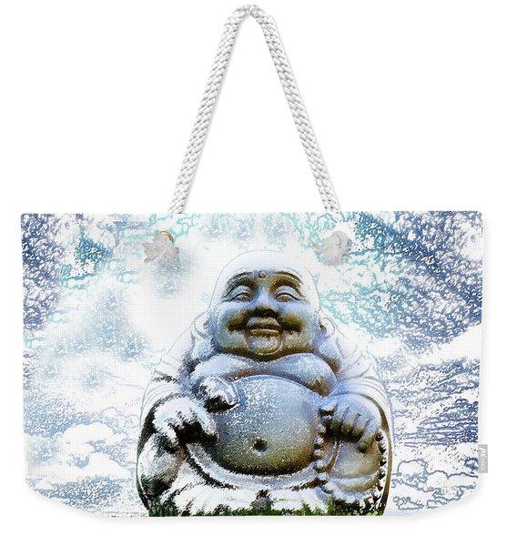 Smiling Buddha Weekender Tote Bag