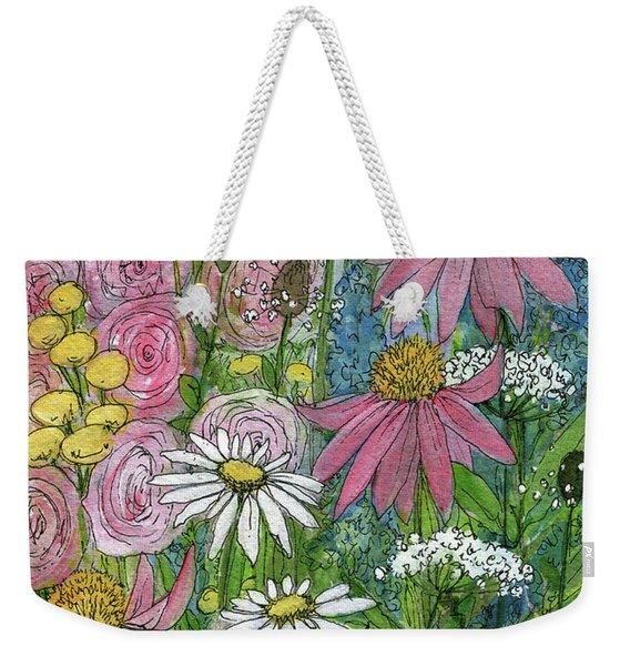 Smiling Flowers Weekender Tote Bag